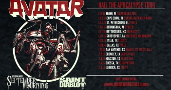 Saint Diablo tapped by Avatar as support for upcoming 'Hail the Apocalypse' tour