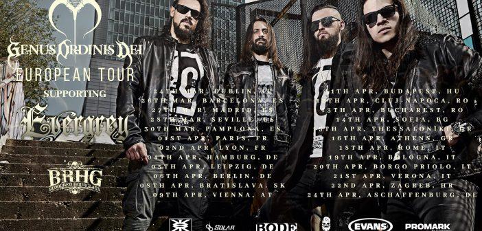 Genus Ordinis Dei Evergrey Europe Tour 2019