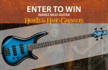 Hearts & Hand Grenades Ibanez Bass Guitar